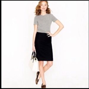 J. Crew no. 2 wool pencil skirt